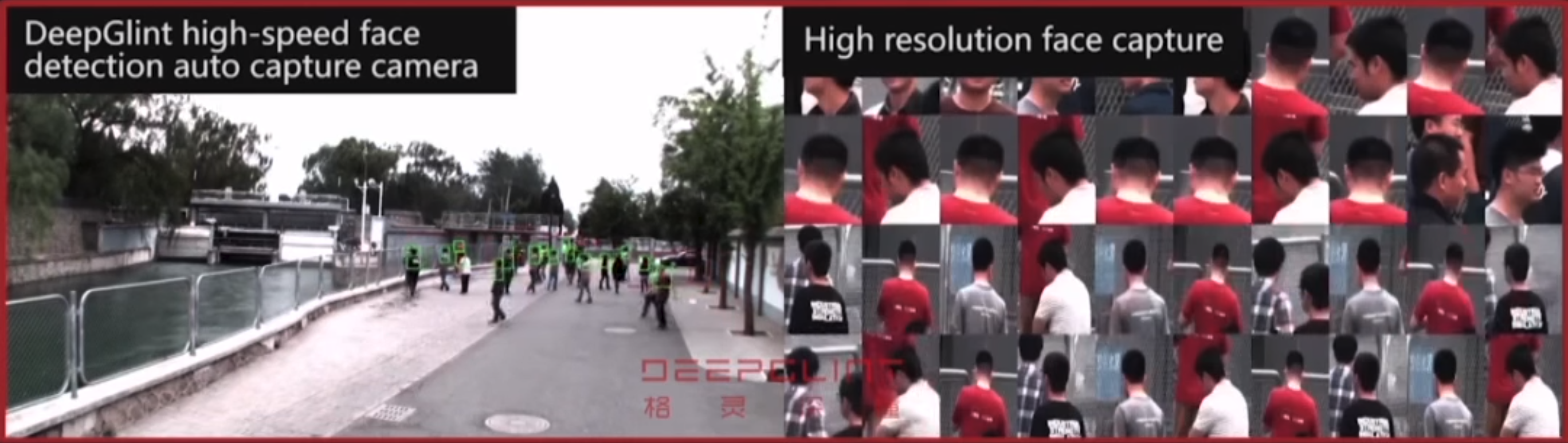Surveillance system created by the Chinese company DeepGlint