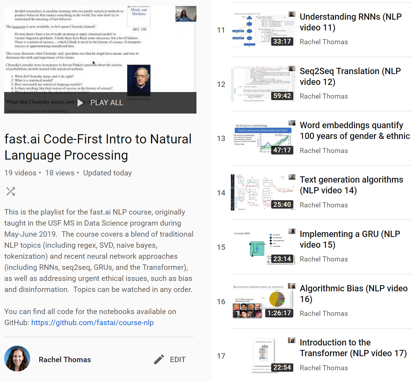 new fast ai course: A Code-First Introduction to Natural Language