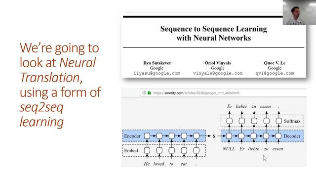 A simple sequence to sequence (seq2seq) model