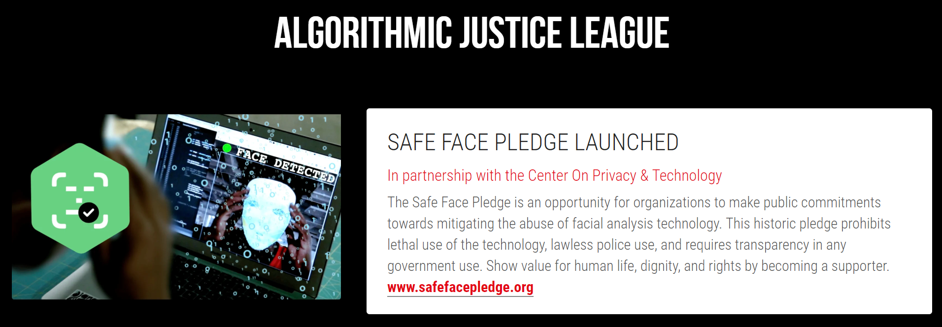 Launch of the SafeFace Pledge